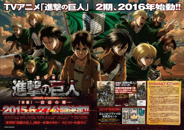 Shingeki no Kyojin Movie 2 hé lộ cái kết mới!