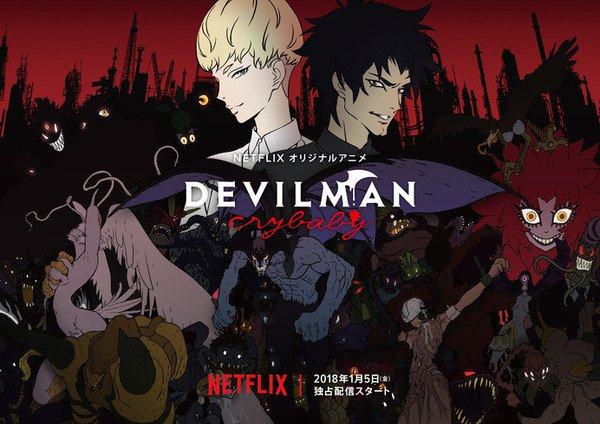 Devilman crybaby TOP 10 Anime viễn tưởng kinh dị không dành cho người yếu tim