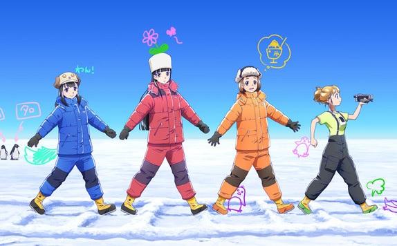 uchuu yori mo tooi basho TOP 10 Anime mùa đông 2018 được khán giả yêu thích nhất