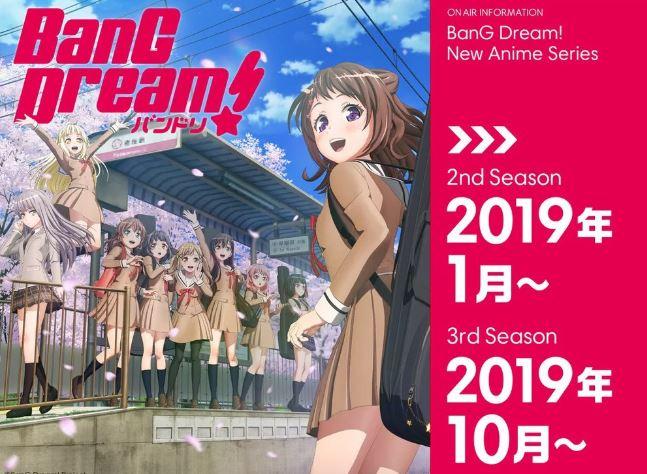 BanG Dream season 2 Top 10 bộ anime mùa đông 2019 khán giả Nhật muốn tiếp tục theo dõi nhất