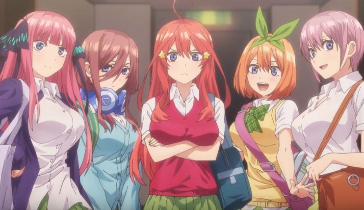 Go Toubun no Hanayome Top 10 bộ anime mùa đông 2019 khán giả Nhật muốn tiếp tục theo dõi nhất