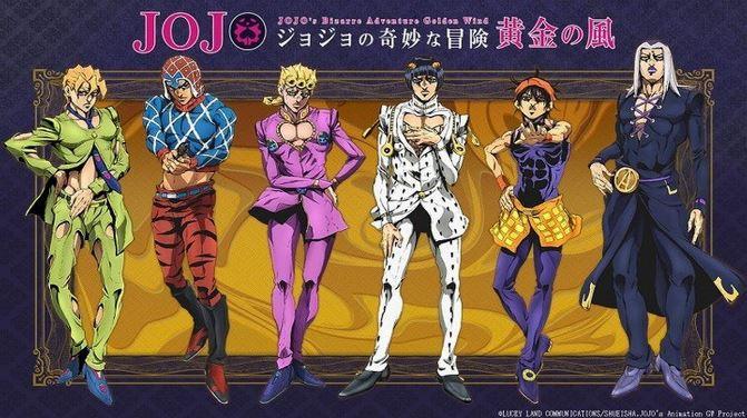 JoJos Bizarre Adventure Golden Wind Top 10 bộ Anime phổ biến nhất năm 2018