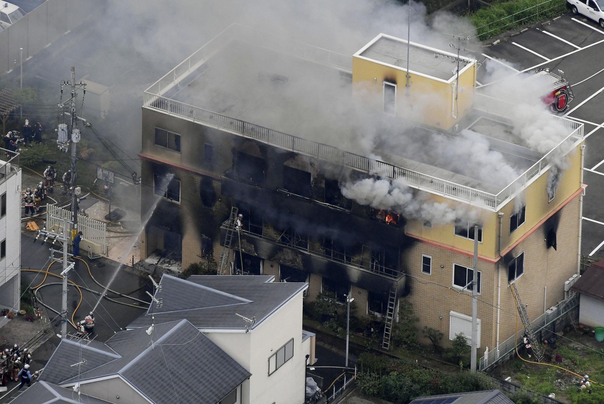 %name Đã có 33 người thiệt mạng trong vụ hoả hoạn tại trụ sở của Kyoto Animation